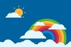 Flaches Design des Regenbogens Lizenzfreies Stockfoto
