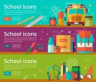 Flaches Design des Vektors von Bildungskonzepten Lizenzfreie Stockbilder