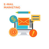 Flaches Design-E-Mail-Marketing Vektor Lizenzfreies Stockbild