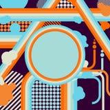 Flaches Design für Ihren Beispieltext, Karikatur-abstrakter Hintergrund Stockbild