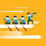 Flaches Design für Teamarbeitskonzept Stockfotos