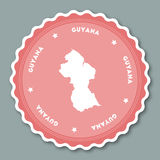 Flaches Design Guyana-Aufklebers Stockfotos