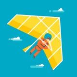 Flaches Design hangglider Stockbild