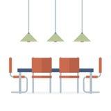 Flaches Design-Innenesszimmer Lizenzfreie Stockbilder