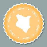 Flaches Design Kenia-Aufklebers Lizenzfreie Stockfotos