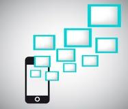 Flaches Design Mobil Stockbilder