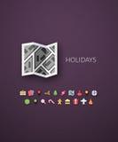 Flaches Design modern von der Markenidentitätsart Lizenzfreie Stockbilder