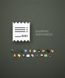 Flaches Design modern von der Markenidentitätsart Stockfotos