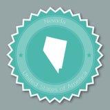 Flaches Design Nevada-Ausweises Lizenzfreie Stockbilder