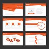 Flaches Design roter Darstellungsschablonen Infographic-Elemente stellte für Marketing der Broschürenflieger-Broschüre ein