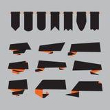 Flaches Design von Aufklebern Stockfoto
