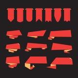 Flaches Design von Aufklebern Lizenzfreie Stockfotos