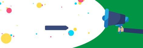 Flaches Designgeschäftsvektor-Illustrationskonzept Geschäftsanzeige für Website- und Förderungsfahnen leeres Social Media-Kopien- vektor abbildung