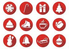 Flaches Designikone Weihnachten Lizenzfreie Stockfotografie