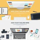 Flaches Designillustrationskonzept Stockfotos