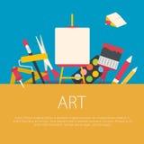 Flaches Designkunstkonzept Lizenzfreie Stockfotos