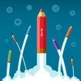 Flaches Designvektor-Firmenneugründungskonzept Stockfotografie