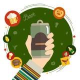 Flaches Designvektor-Illustrationskonzept für oktoberfest Lizenzfreies Stockfoto