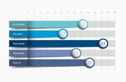 Flaches Diagramm, Diagramm Einfach blaue Farbe editable stock abbildung