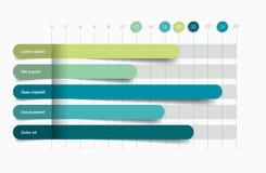 Flaches Diagramm, Diagramm Einfach Farbe editable stock abbildung