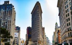 Flaches Eisen, das New York errichtet Stockfotos