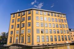 Flaches Eisengebäude, Norrkoping Lizenzfreies Stockfoto