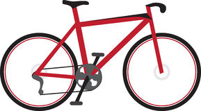 Flaches Fahrrad stockfotos