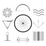 Flaches grafisches Fahrrad Lizenzfreie Abbildung