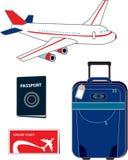 Flaches Illustrationskonzept der Flugreise Lizenzfreie Stockfotos