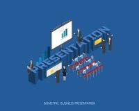 Flaches isometrisches Illustrationsdarstellungs-Konzeptdesign des Vektors 3d, abstrakte städtische moderne Art, Geschäfts-Reihe d Stockbild