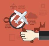 Flaches Konzept des Entwurfes für Geschäft Lizenzfreie Stockbilder
