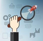 Flaches Konzept des Entwurfes für Geschäft Stockfotografie
