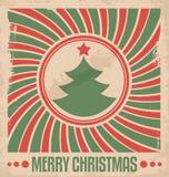 Flaches Konzept des Entwurfes Minimalistic für Weihnachtskarte Stockfoto