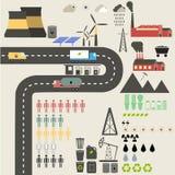 Flaches Konzept des Entwurfes von Ökologie Lizenzfreie Stockfotos