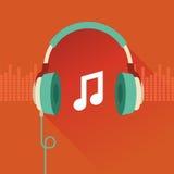 Flaches Konzept des Vektors - Musik Lizenzfreie Stockfotografie