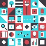 Flaches Muster der modernen Technologie