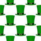 Flaches Muster St. Patricka Tages Stockfoto
