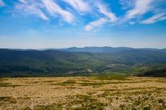 Flaches Panorama Stockbild