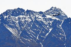 Flaches Queenstown, Neuseeland Stockbild