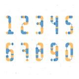 Flaches Rohr nummeriert v2 Stockfotografie