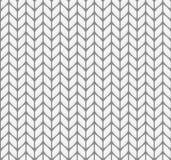 Flaches strickendes nahtloses Muster Stockbilder