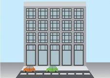 flaches Vektorstadtgebäude stock abbildung