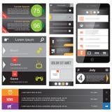 Flaches Webdesign Lizenzfreie Stockfotos
