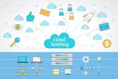 Flaches Wolkenhosting Stockbilder