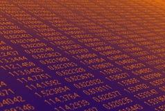 Flachheit von Zahlen stockfoto