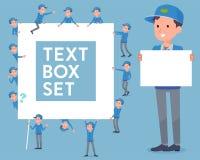Flachlieferung men_text Kasten Stockbilder