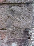Flachrelief auf den Wänden der alten Stadt Ankgor Wat Lizenzfreie Stockbilder