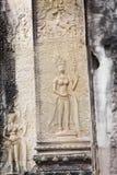 Flachrelief in Banteay Srei, Kambodscha lizenzfreie stockfotos