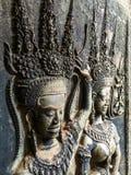 Flachrelief beim Angkor Wat Lizenzfreie Stockfotos