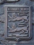 Flachrelief des Erinnerungszeichens des französischen Geschwaders Normandie Neman Stockbild